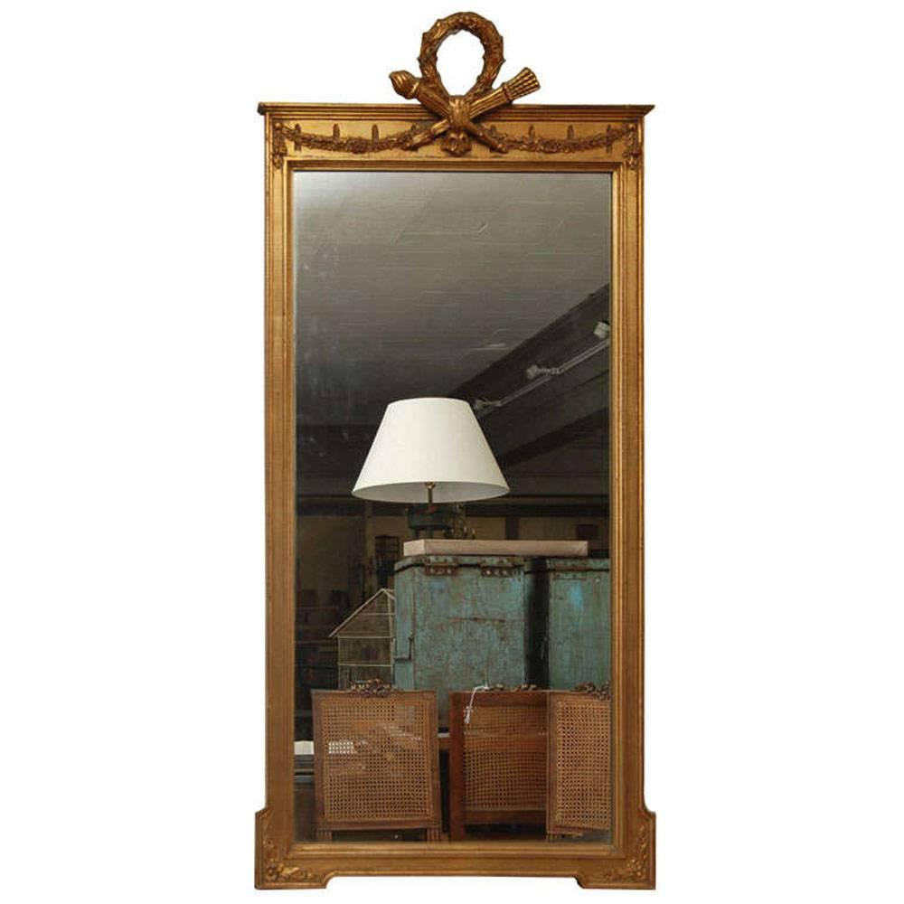 Neoclassical Pier Mirror For Sale at 1stdibs