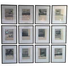 Framed Cards from the Original Thonet Katalog Stahlrohrmöbel Bauhaus