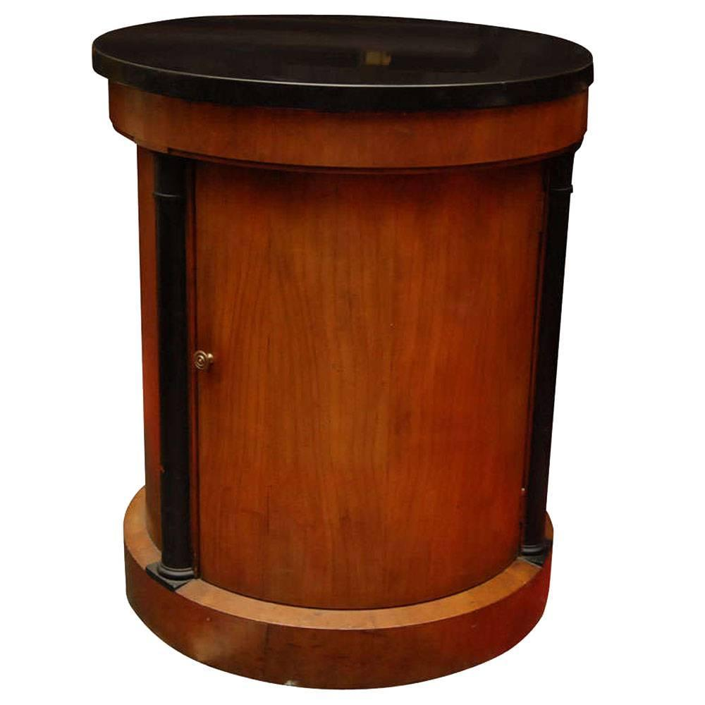 Classic round drum occasional side table for sale at 1stdibs for Drum side table