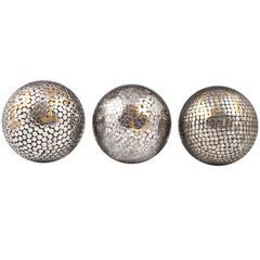 19th Century Bocce Balls, Italy or France, Set of Three