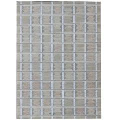 Large Modern Scandinavian/Swedish Design Rug with Pastel Colors
