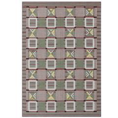 Large Modern Scandinavian/Swedish Geometric Design Rug