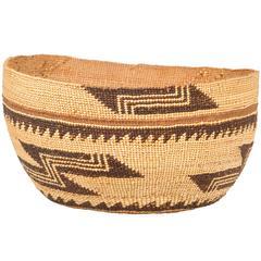 Fine Native American Hupa Woven Basket