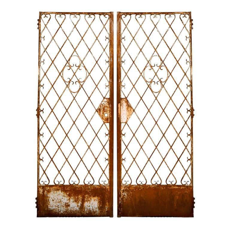 Pair Of French Metal Garden Gates For Sale