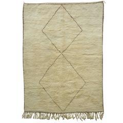Soft Ivory Berber Rug