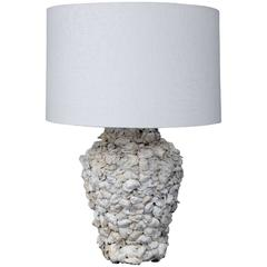 Custom Shell-Covered Table Lamp