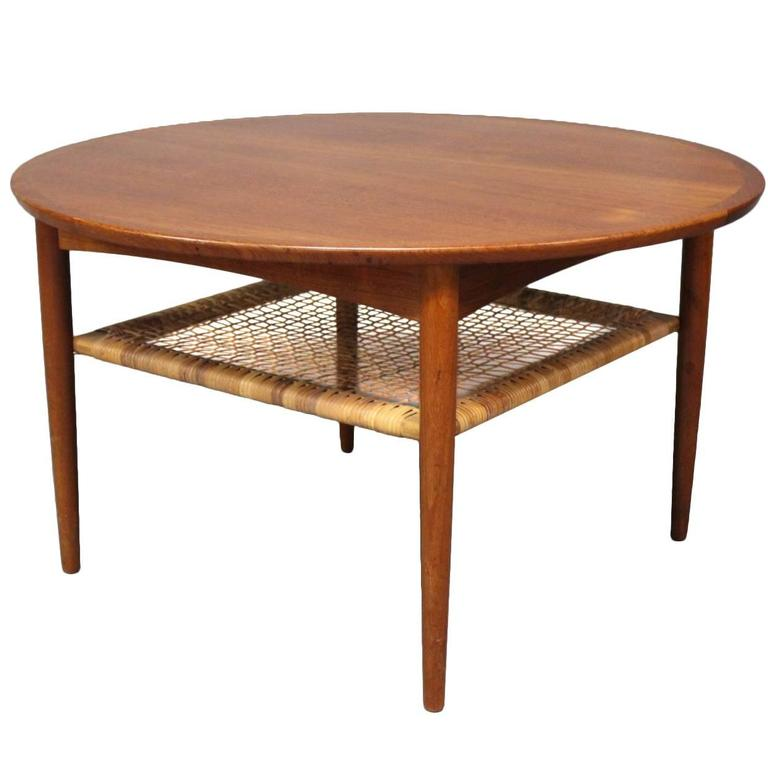 Coffee Table In Teak With Cord Shelf By M Belintarsia 1960s For Sale At 1stdibs