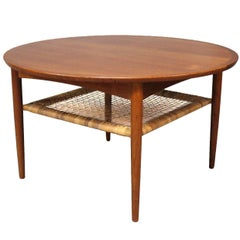 Coffee Table in Teak with Cord Shelf by Møbelintarsia, 1960s