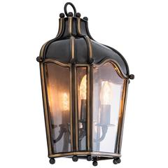 Paris Wall Lamp in Gunmetal Highlight Finish with Clear Glass