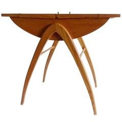 Danish Modern Spindle Legs Storage Box Chest Table, Modernist Vintage Design