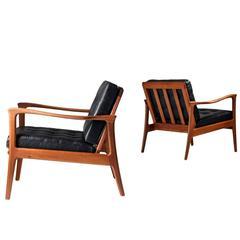 "Easy Chairs ""Böja"" Carl-Erik Johansson for Bejra Möbel"