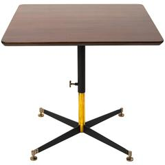 Ignazio Gardella T5 Adjustable Height Cocktail or Game Table in Cherry