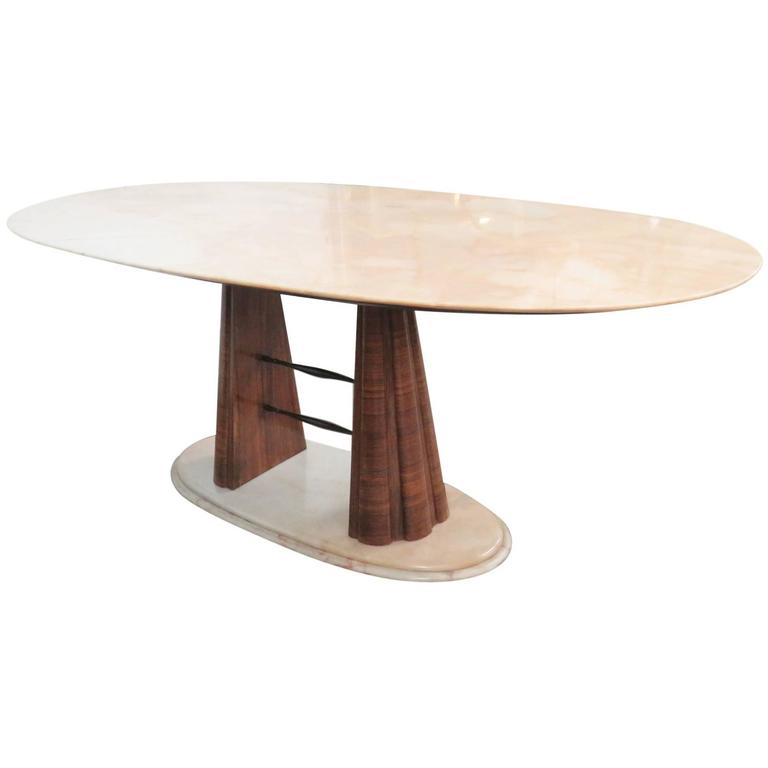 Borsani style modern marble top dining table for sale at for Marble table tops for sale