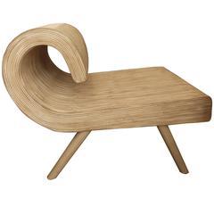 Fun Vintage Strip Bamboo Chair