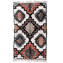 Hand-Knotted Vintage Moroccan Wool Rug