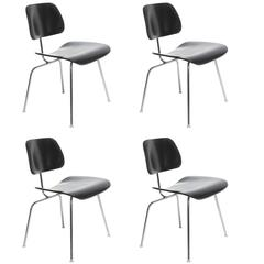 Black Eames DCM Chairs