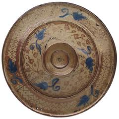 16th Century Spanish Hispano Moresque Copper Lustre Charger