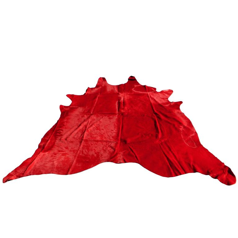 Red Cow Hide Rug