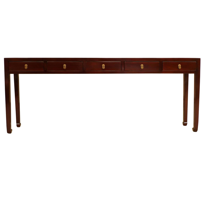 fine and elegant ju mu wood console tablele table for sale at 1stdibs. Black Bedroom Furniture Sets. Home Design Ideas