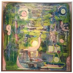 1960s Abstract Painting by Eve Garrison