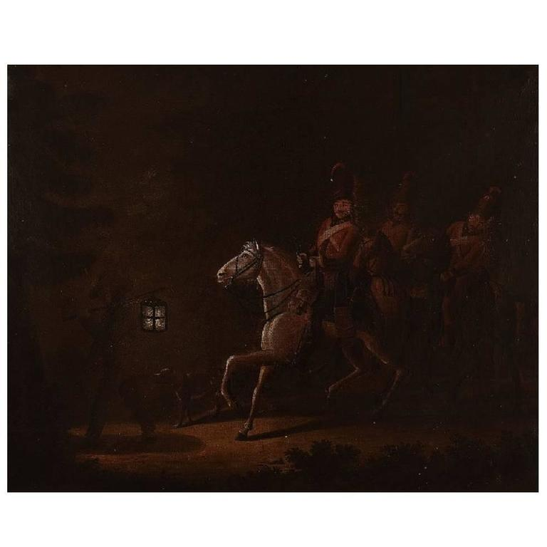 Unknown Old Master, Oil on Canvas, 19th Century Riders from Napoleon 1st Army