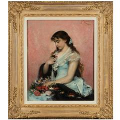 Young Lady with a Garland of Flowers