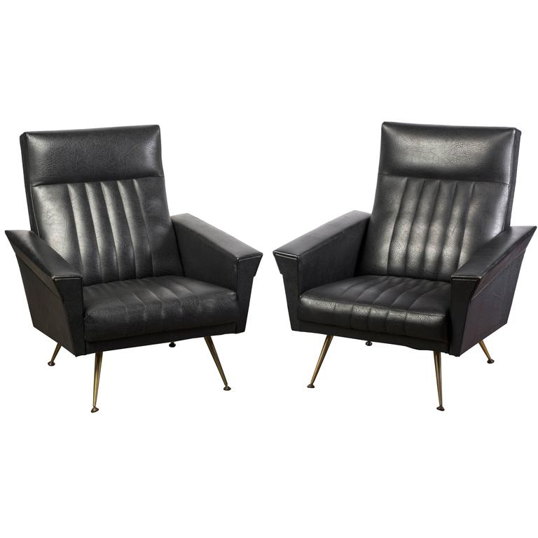 Outstanding Pair of Mid-Century Modernist Armchairs by Zanuso