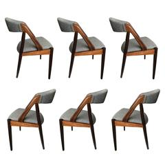 Set of Six, Palisander Kai Kristiansen Dining Chairs