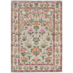 '17th Century Modern_Mughal No. 01' Hand-Knotted Wool and Silk Rug