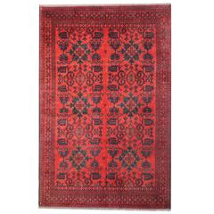 Afghan Rugs, 21st Century Red Rug, Hand woven Floor Rugs for sale