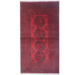 Fine New Afghan Red Rugs, Turkman Design Carpet