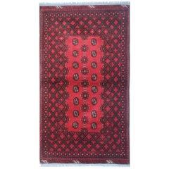 Red Handmade Rug Oriental Fine New Afghan Rugs, Turkmen Design Carpet