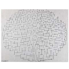 "Piet Mondrian Carpet, ""Jetée et Océan"""