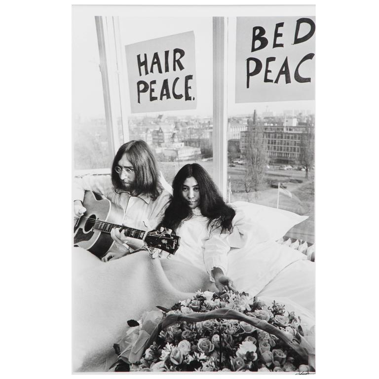 Nico Koster John Lennon And Yoko Ono Amsterdam 1969 Framed Photograph At 1stdibs