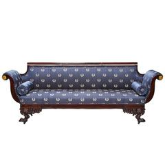 19th Century American Empire Mahogany Sofa