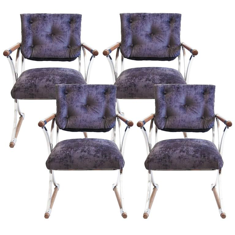 cleo baldon purple caign dining chairs at 1stdibs