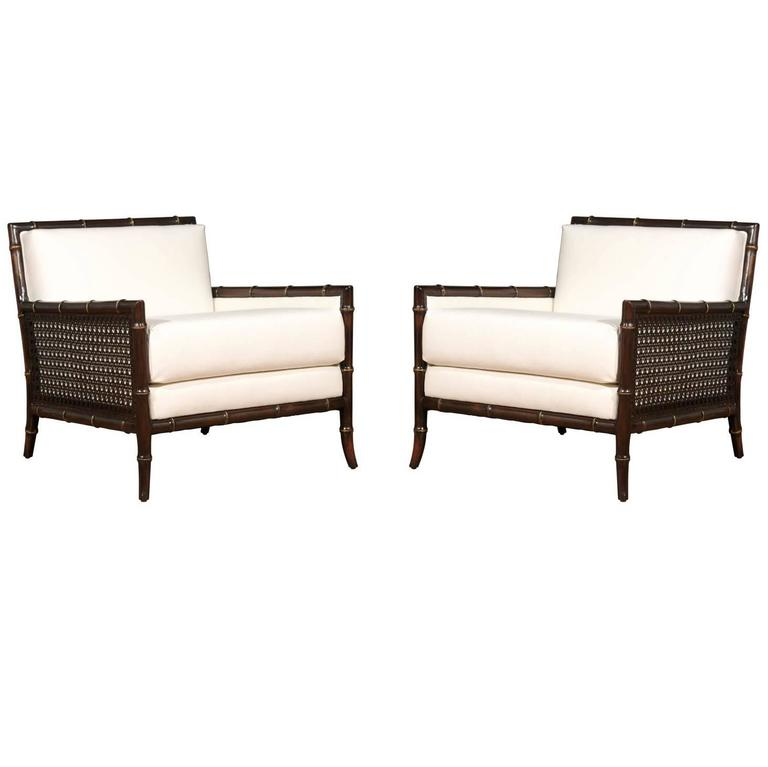 Exceptional Pair of Vintage Loungers in the Style of Gibbings