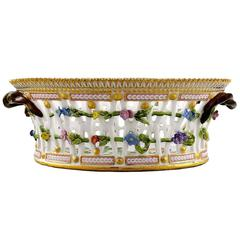 Antique Royal Copenhagen Flora Danica Large Fruit Bowl