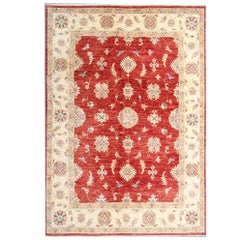 Red Hand Made Carpet Oriental Rugs, Floral Carpet for Sale