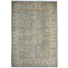 Gray-Green Oriental Rugs, Hand Made Carpet Living Room Rugs for Sale