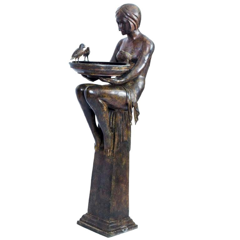 Huge Bronze Art Deco Jardinière on Stand at 1stdibs