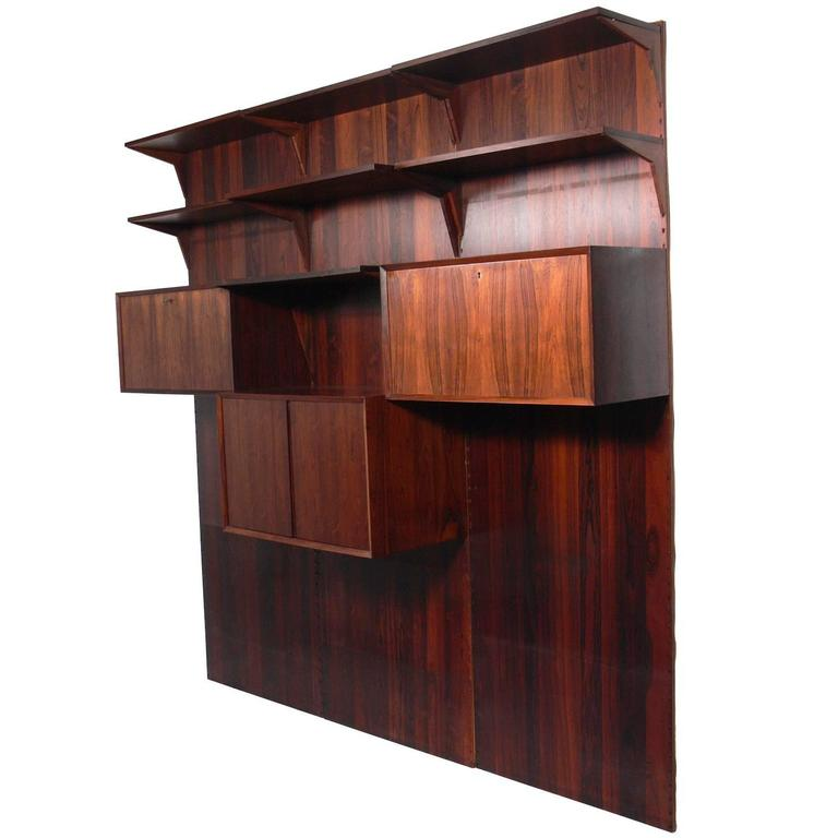 Danish Modern Rosewood Wall Unit #2 by Poul Cadovius