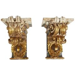 Pair of 18th Century Portuguese Corbels