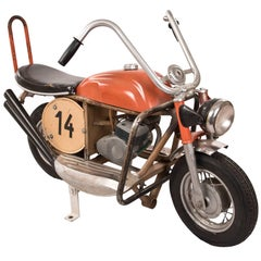 Vintage French Carousel-Ride Motorcycle