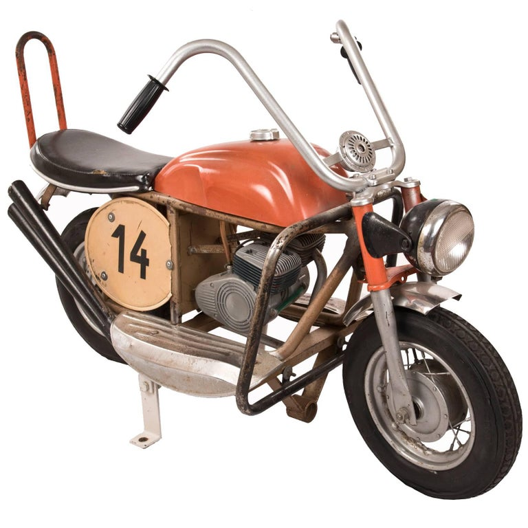 Vintage French Carousel-Ride Motorcycle For Sale