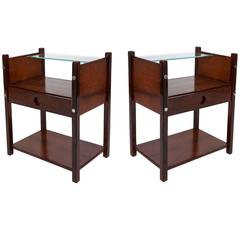 Pair of Sergio Rodrigues 'Yara' Side Tables