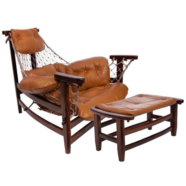 Jean Gillon 'Jangada' Armchair with Footstool
