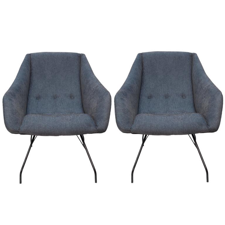 Pair of Martin Eisler & Carlo Hauner 'Concha' Armchairs For Sale