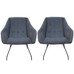 Pair of Martin Eisler & Carlo Hauner 'Concha' Armchairs