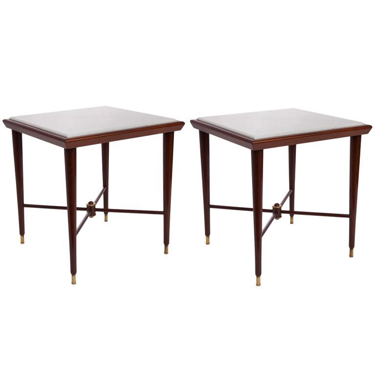 Liceu De Artes & Oficio Marble-Top Side Tables